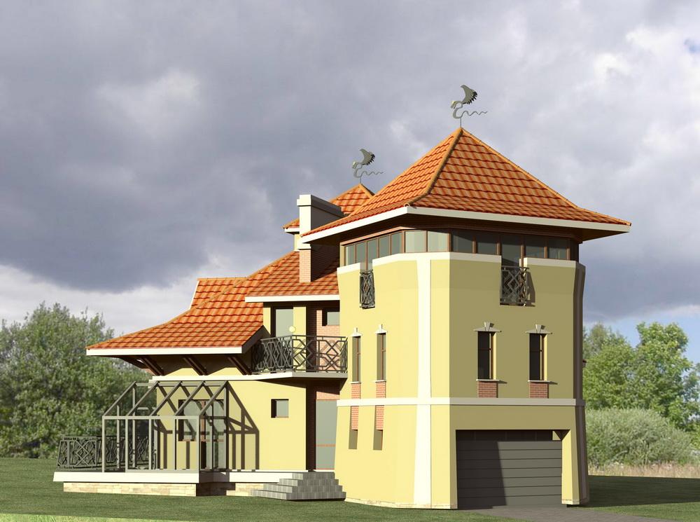 Житловий будинок з вежею біля м. Івано-Франківськ