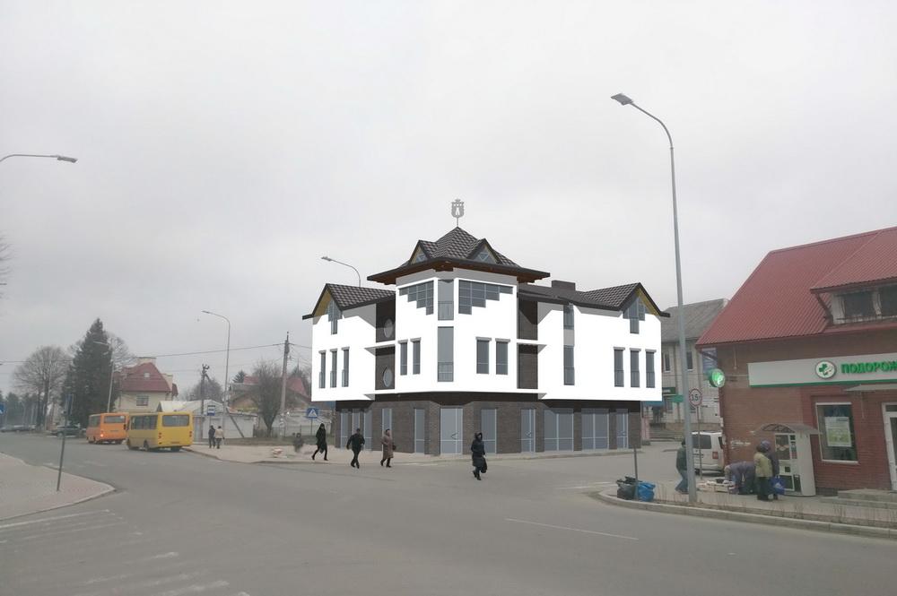 Торгово-офісна будівля, м. Пустомити