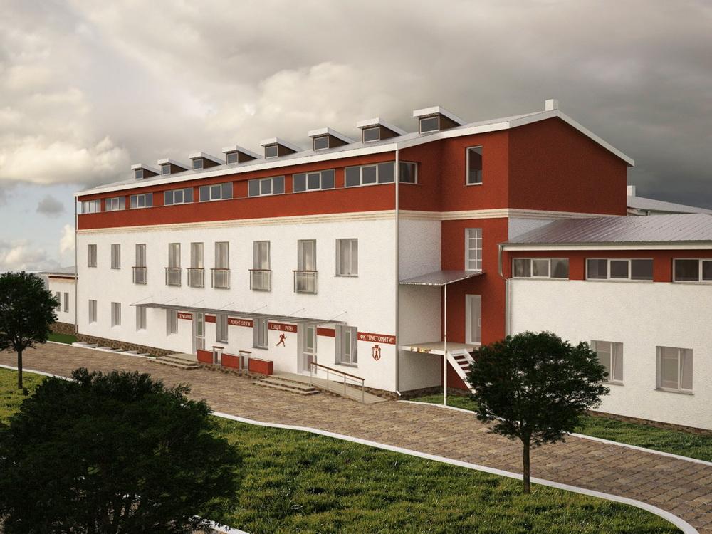 Реконструкція будівлі громадського центру в м. Пустомити.